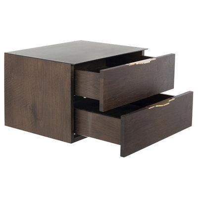 Nuevo Living Drift Side Table Smoked Oak