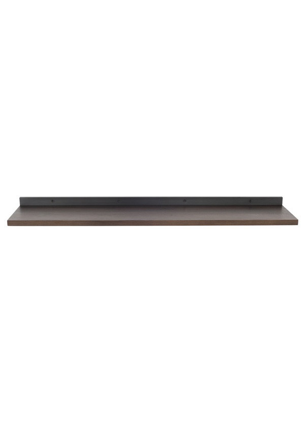 Nuevo Living DRIFT SHELVING BLACK SMOKED TOP/ STEEL
