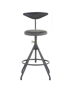 Nuevo Living AKRON ADJUSTABLE COUNTER STOOL  STORM BLACK