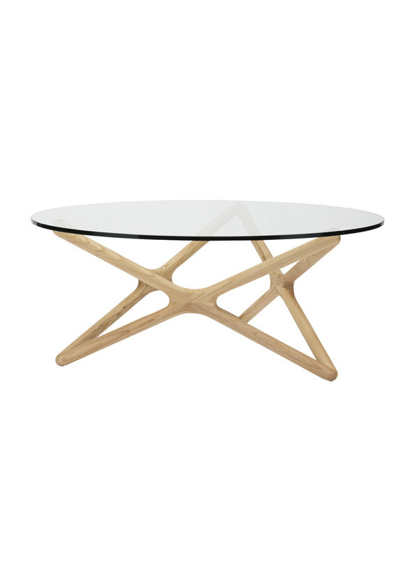 Nuevo Living STAR DINING TABLE  RAW ASH BASE WOOD