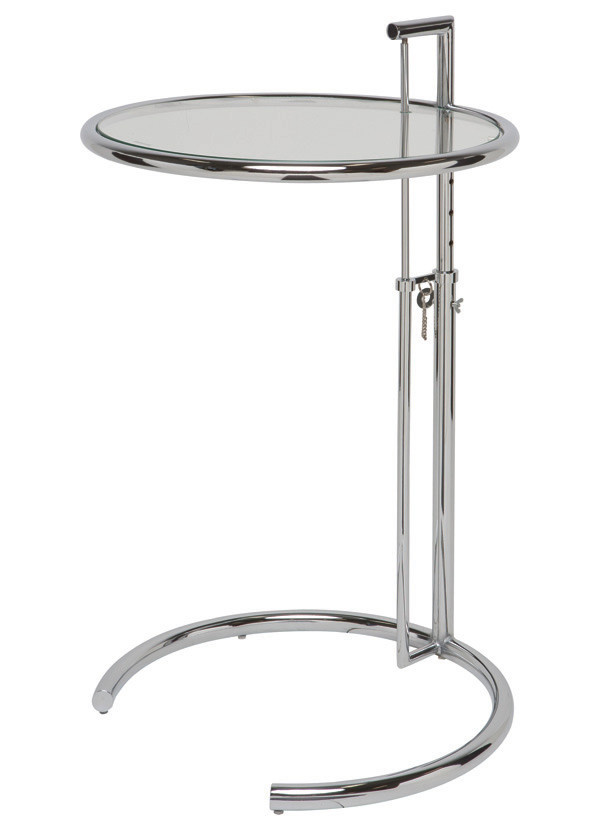 Nuevo Living LARGEN SIDE TABLE CLEAR GLASS STEEL CHROME