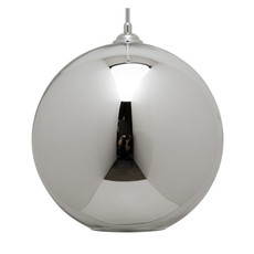 Nuevo Living MARSHALL  PENDANT  LIGHTING SILVER SHADE GLASS