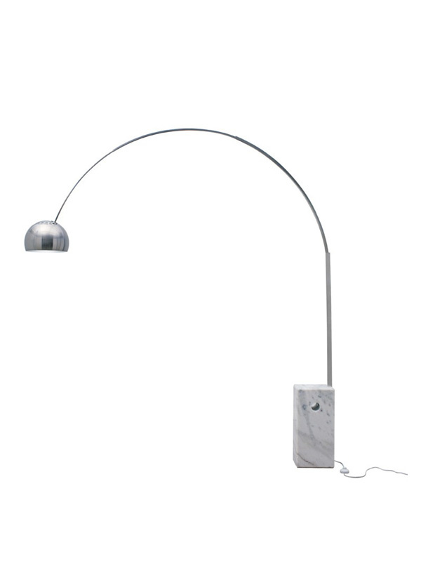 Nuevo Living CORA FLOOR LAMP SILVER WHITE MARBLE BASE