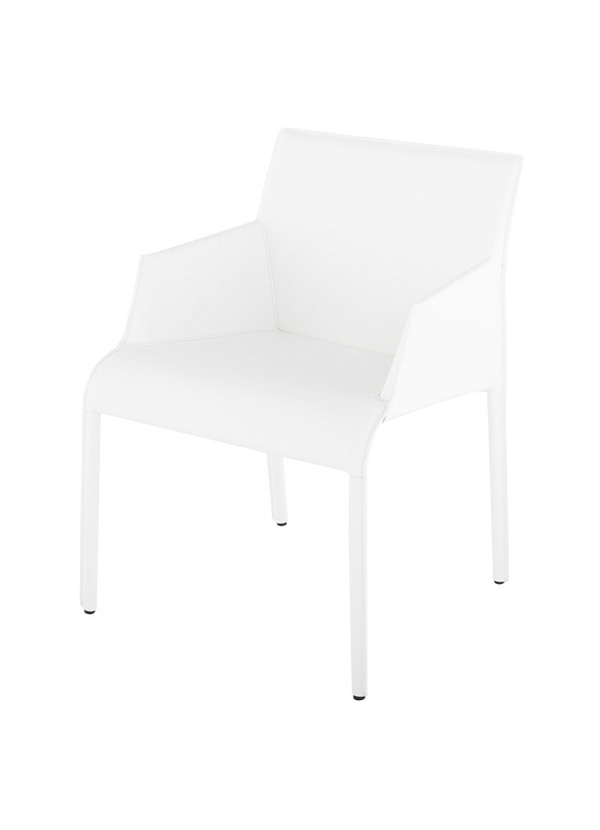 Nuevo Living DELPHINE  DINING ARM CHAIR WHITE
