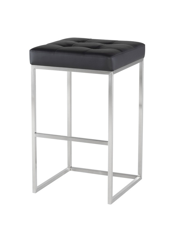 Nuevo Living CHI BAR STOOL BLACK SEAT NUAGA SS