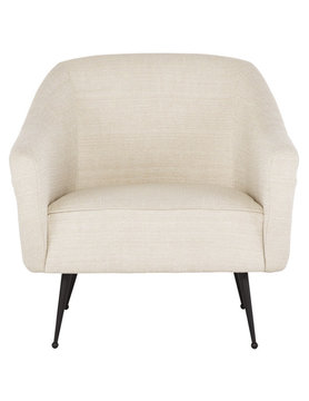 Nuevo Living LUCIE OCCASIONAL CHAIR SAND SEAT FABRIC BLACK LEGS STEEL