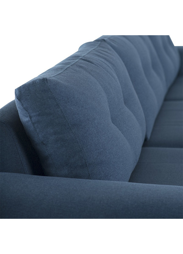 Nuevo Living COLYN SECTIONAL LAGOON BLUE GOLD BRUSHED SS