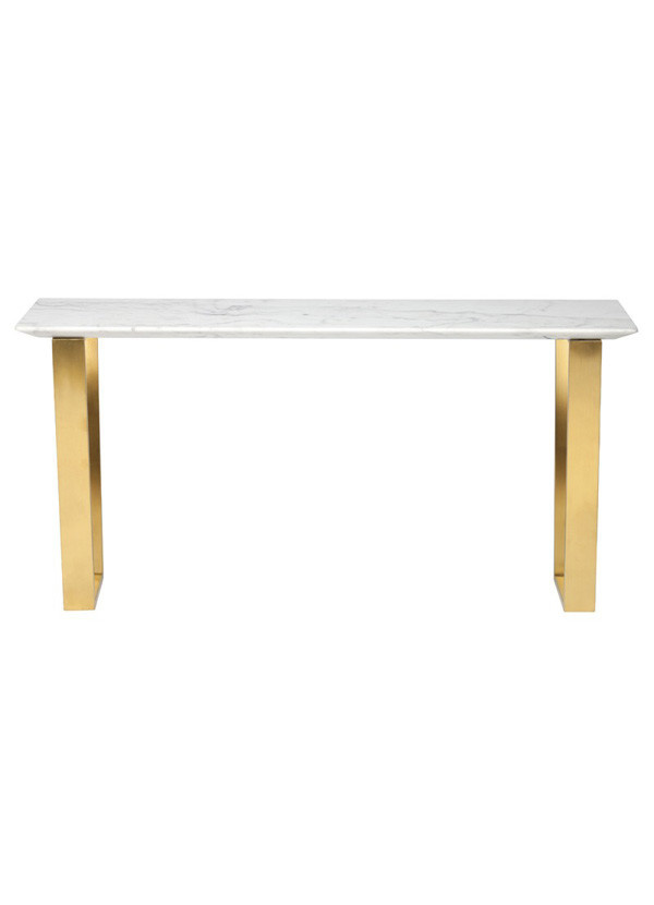 Nuevo Living CATRINE CONSOLE TABLE WHITE MARBLE