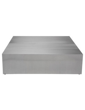 Nuevo Living SIREN - COFFEE TABLE         BRUSHED STAINLESS STEEL