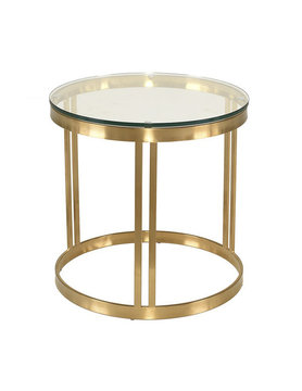 Nuevo Living SIDE TABLE CLEAR GOLD