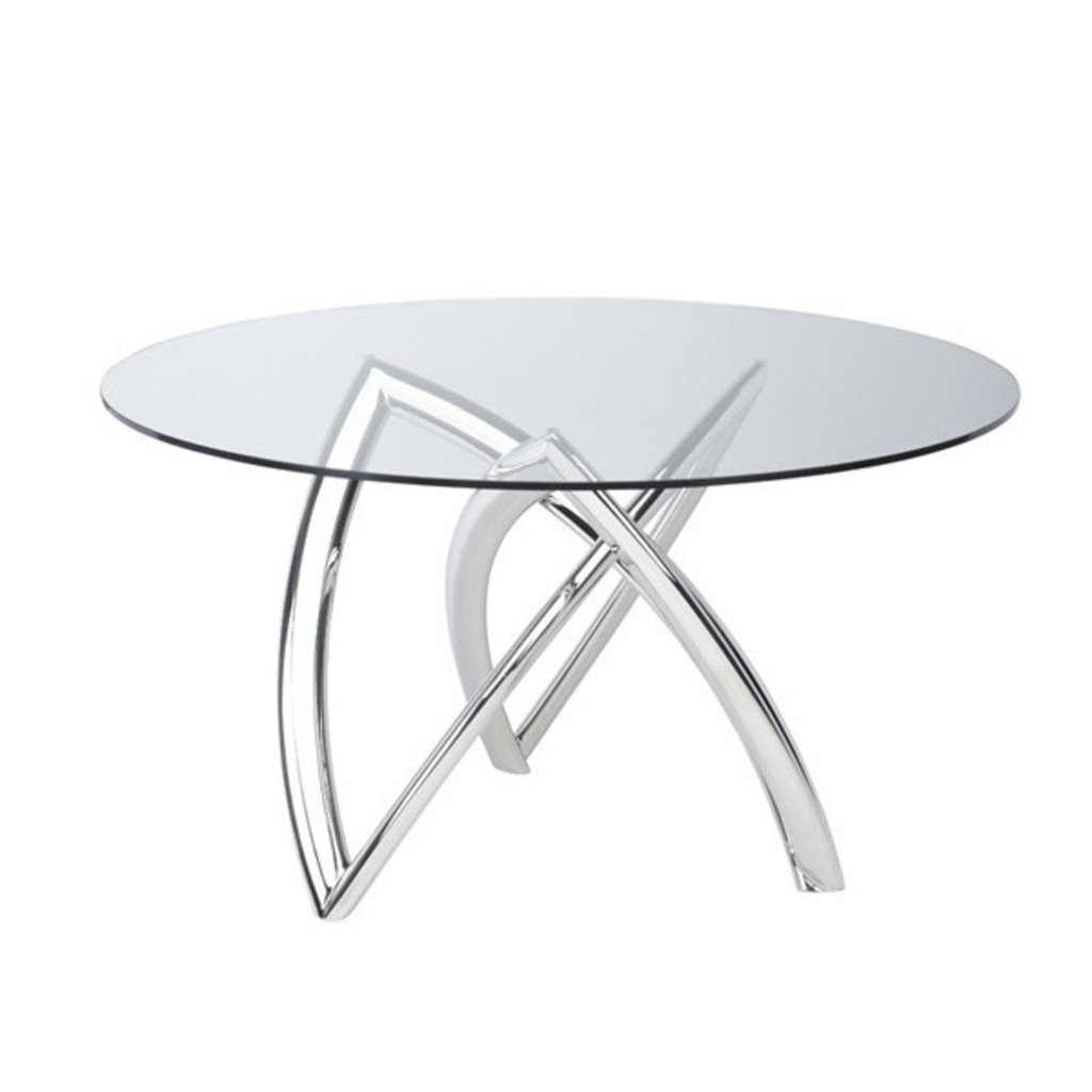 Nuevo Living Martina Dining Table Glass top/SS