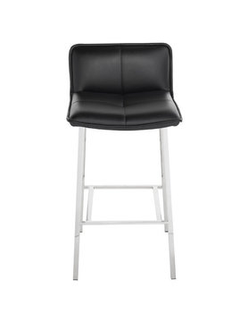 Nuevo Living SABRINA COUNTER STOOL CHROME/BLACK