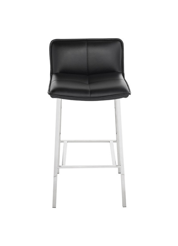 Prime Sabrina Counter Stool Chrome Black Machost Co Dining Chair Design Ideas Machostcouk
