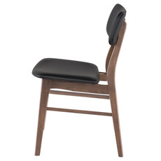 Nuevo Living Scott Dining Chair Walnut/ Black