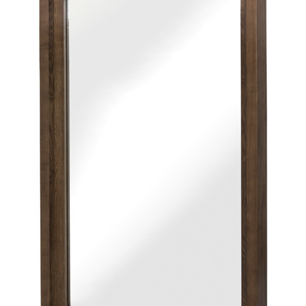 """Nuevo Living Glam 36"""" Wall Mirror Ash Stained Walnut"""