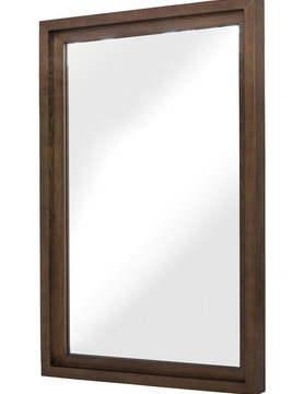 "Nuevo Living GLAM 36"" WALL MIRROR ASH STAINED WAL"