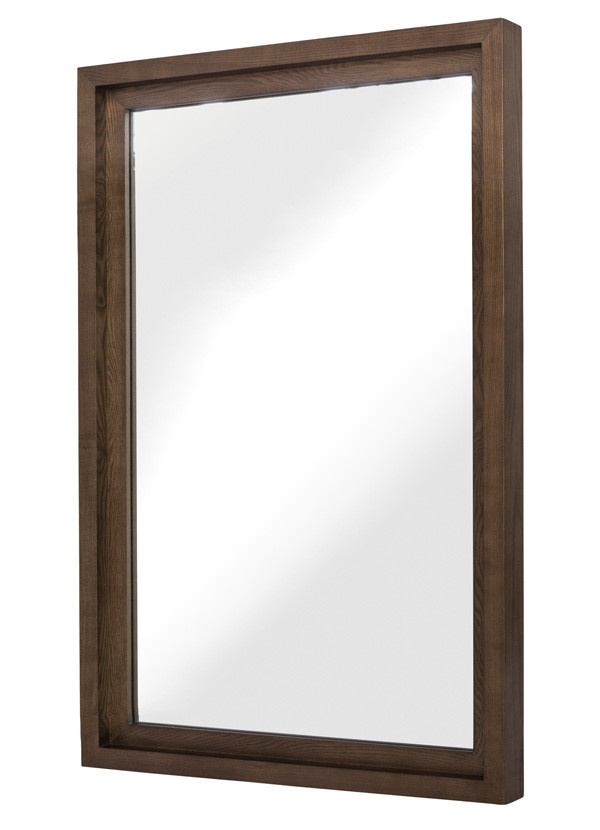 """Nuevo Living GLAM 36"""" WALL MIRROR ASH STAINED WAL"""