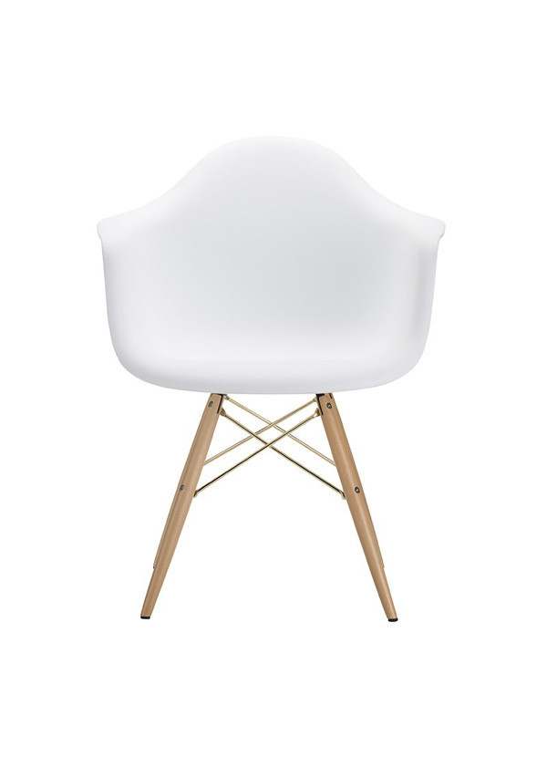 Nuevo Living EARNEST DINING ARM CHAIR WHITE SEAT NATURAL WOOD BASE
