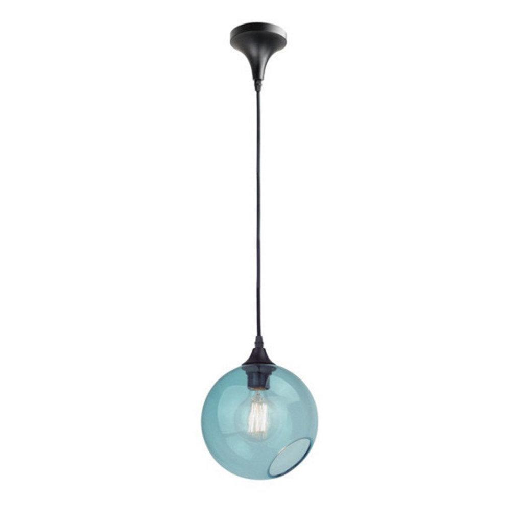 Nuevo Living Sphere Pendant Light Blue Glass