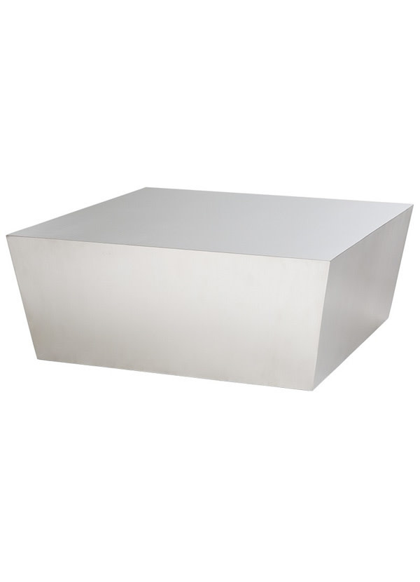 Nuevo Living CUBE COFFEE TABLE STAINLESS STEEL BRUSHED