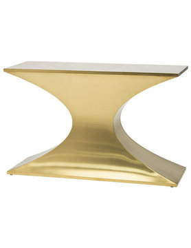 Nuevo Living PRAETORIAN CONSOLE GOLD  STAINLESS STEEL BRUSHED