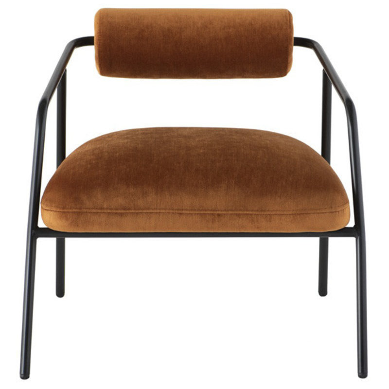 Nuevo Living Cyrus Occasional Chair with Rust Velvet