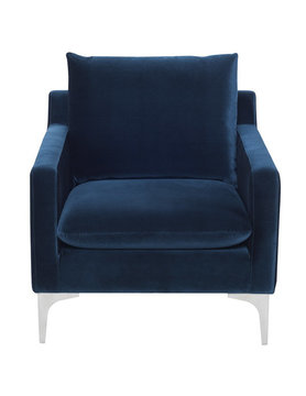 Nuevo Living SOFA SINGLE SEAT MIDNIGHT BLUE