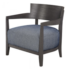 Moe's Home Collection Volta Arm Chair Blue Fabric