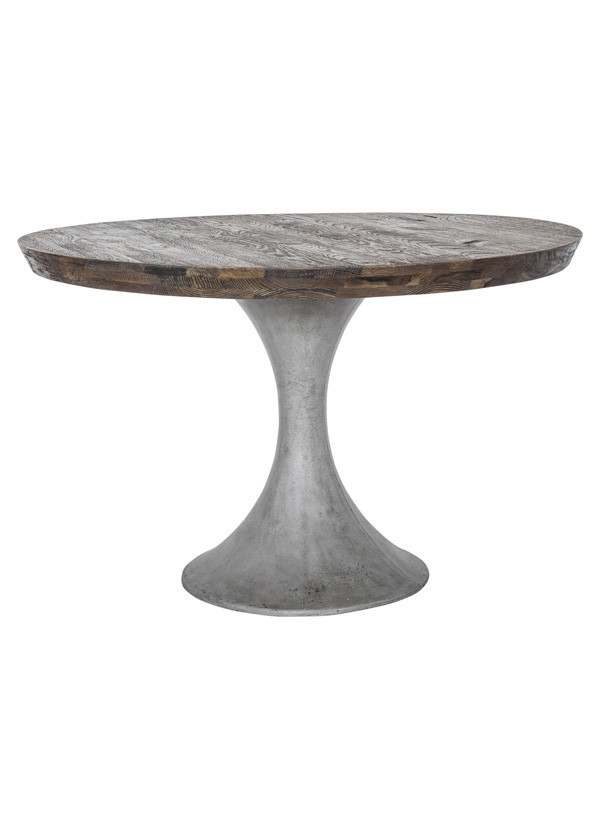 Moes AARON ROUND DINING TABLE (BASE DAMAGED)