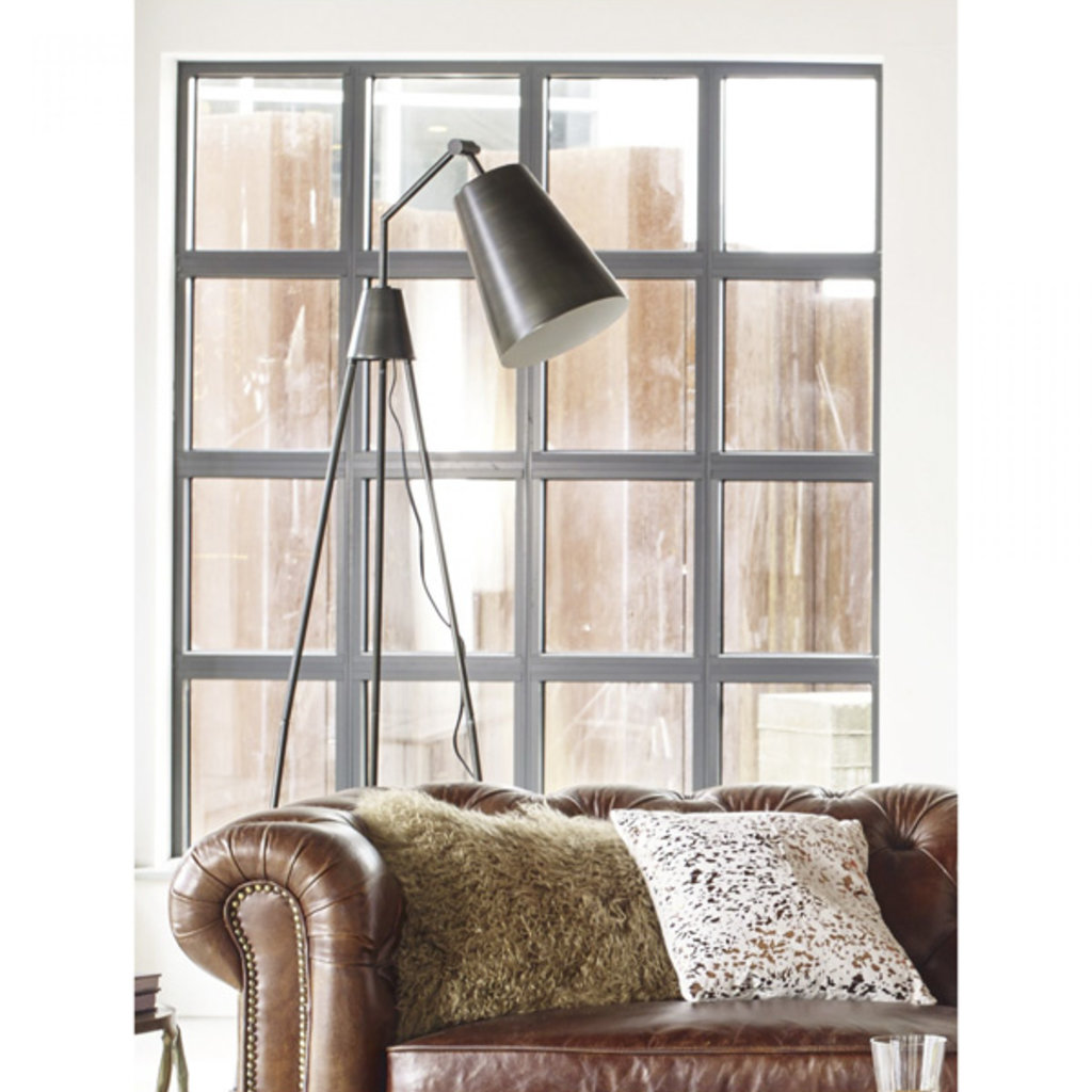 Moe's Home Collection Amato Floor Lamp Silver