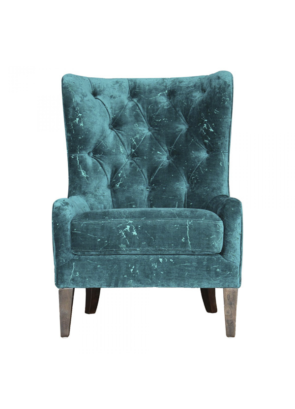 Moes ARYA ARM CHAIR BLUE GREEN