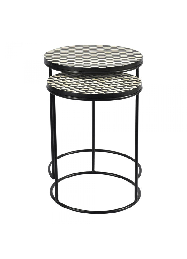 Moes OPTIC NESTING TABLES SET OF 2