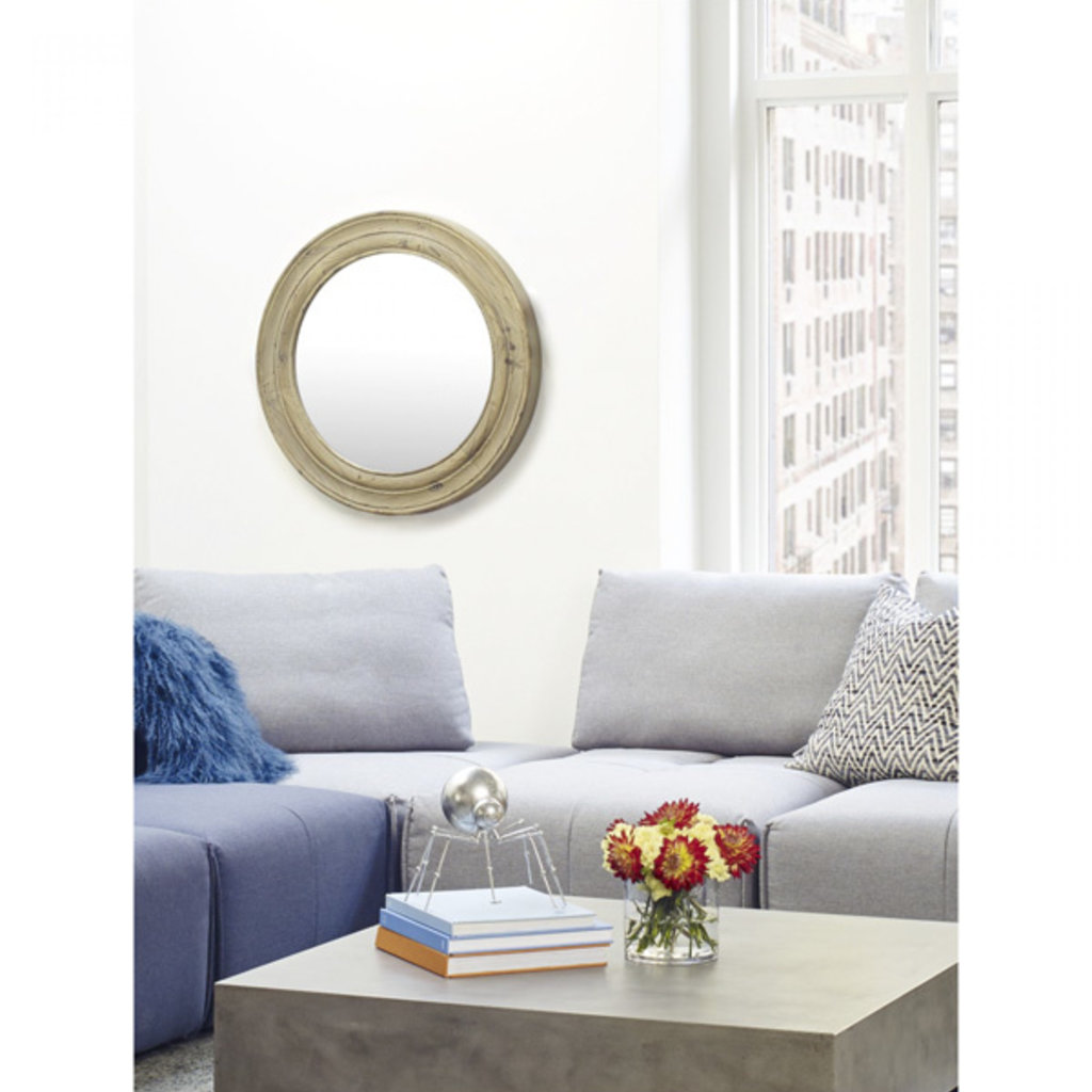 Moe's Home Collection Porthole Mirror Brown