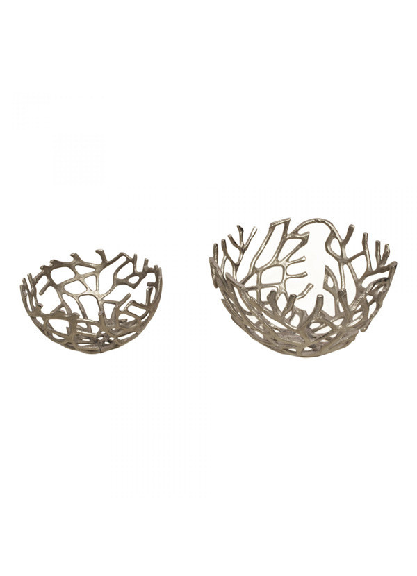 Moes BRANCH BOWL SILVER SET OF TWO
