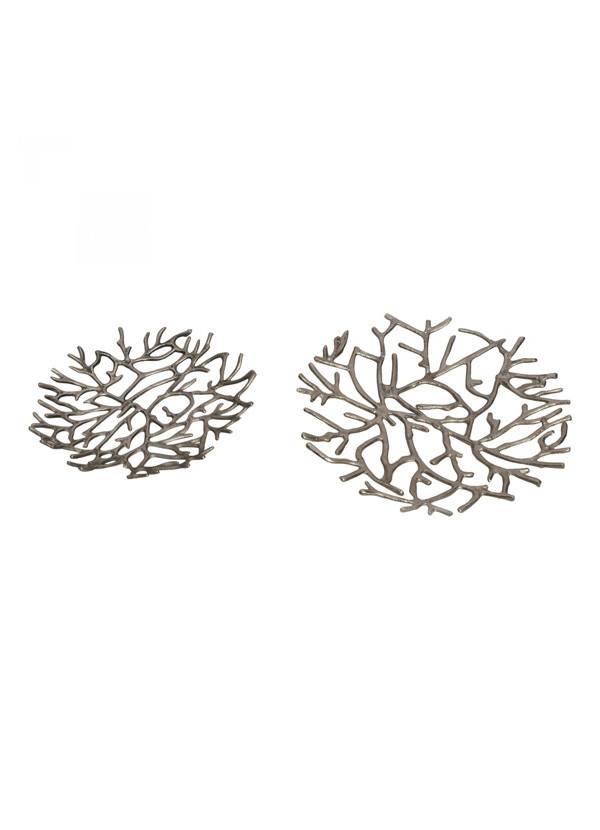Moes TWIG PLATTER SILVER SET OF TWO