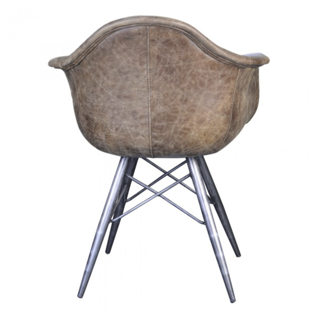 Moe's Home Collection Flynn Club Chair Light Brown Leather