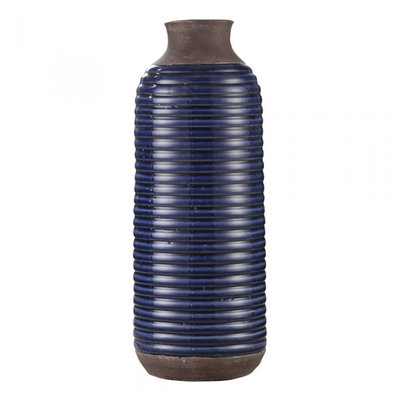 Moe's Home Collection Alexandria Tall Vase Blue