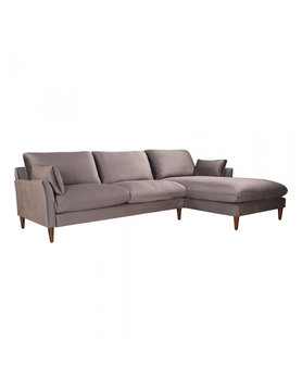 Moes SUMA SECTIONAL RIGHT GREY VELVET