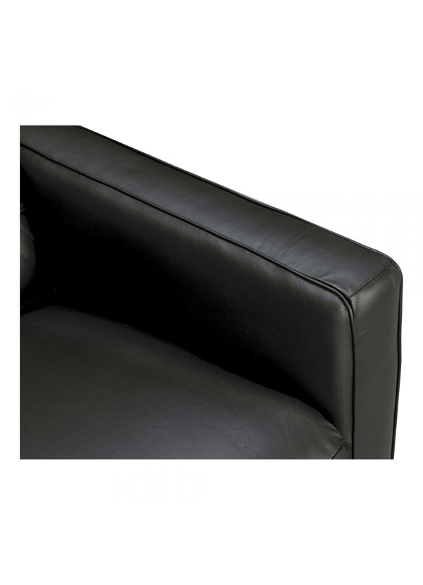 Moes RUSSELL RECLINING SOFA LEATHER BLACK