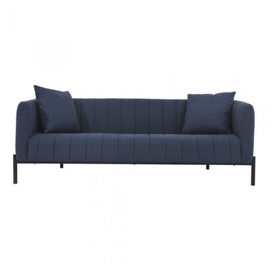 Moe's Home Collection Jaxon Dark Blue Upholstered Sofa