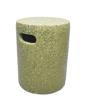 Moes PILLAR CEMENT STOOL GREEN