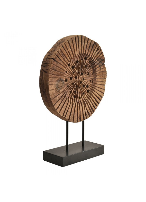 Moes ROUND MANGO WOOD SCULTPURE