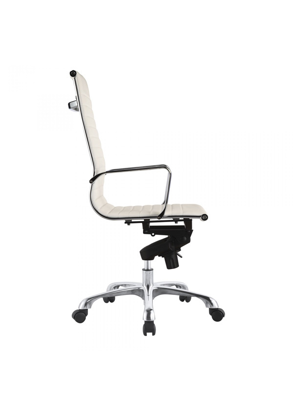 Moes OMEGA SWIVEL OFFICE CHAIR HIGH BACK WHITE