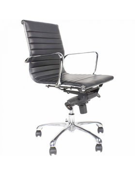 Moes OMEGA SWIVEL OFFICE CHAIR LOW BACK BLACK