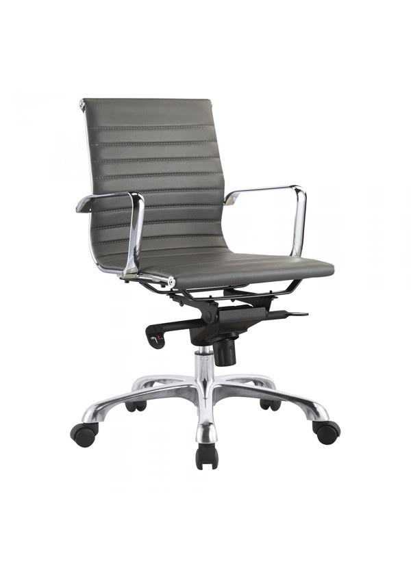 Moes OMEGA SWIVEL OFFICE CHAIR LOW BACK GREY
