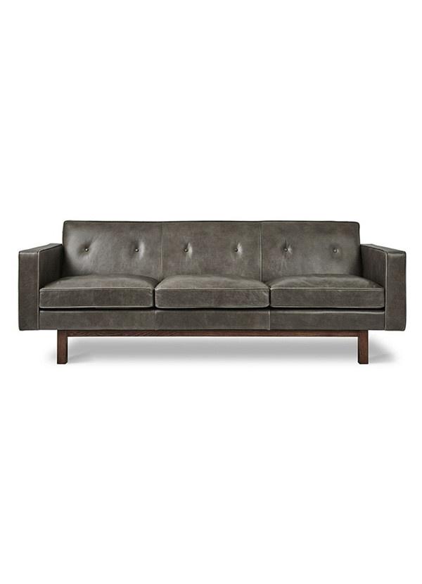 Gus Modern Embassy Sofa Saddle Grey Leather