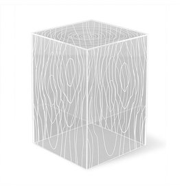 Gus Modern Timber Table Clear Acrylic