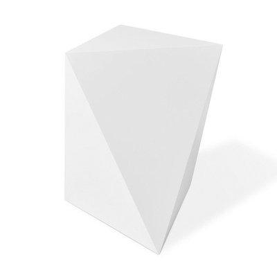 Gus Modern Facet Table Matte White 8