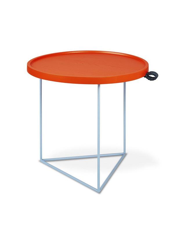 Gus Modern Porter End Table Gus* x LUUM Orange Pop Module