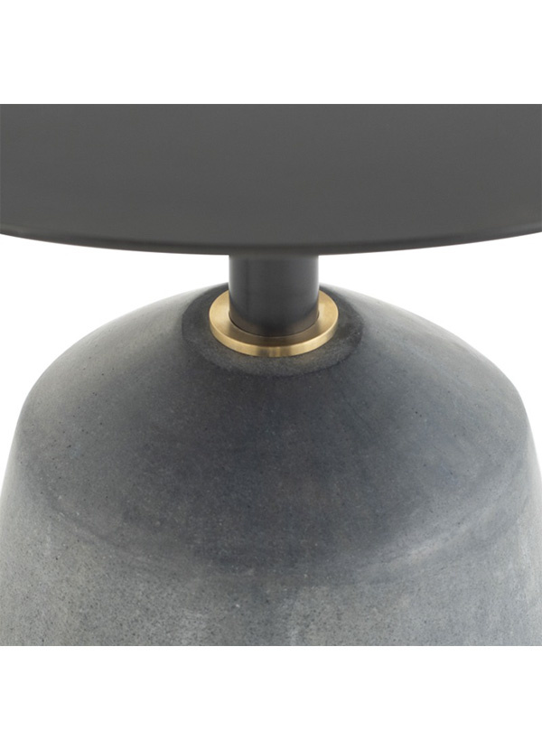 Nuevo Living EXETER SIDE TABLE BLACK TOP